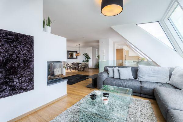 Einrichtungsberater Wohnraum Dachgeschosswohnung Innenarchitektur