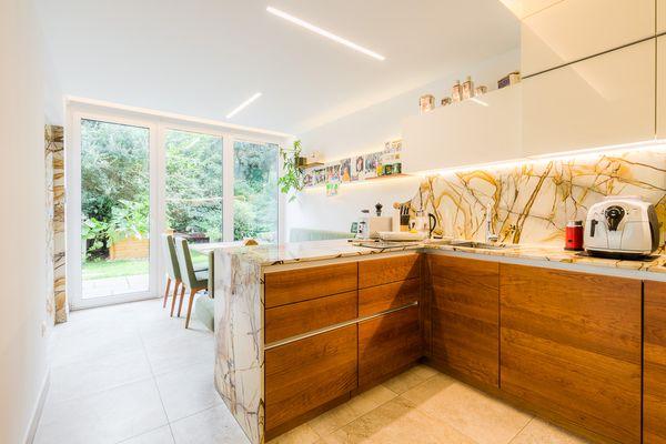 Küche und Essbereich Raumneugestaltung