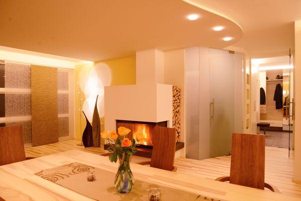 Wohnraum Innenarchitektur Kamin