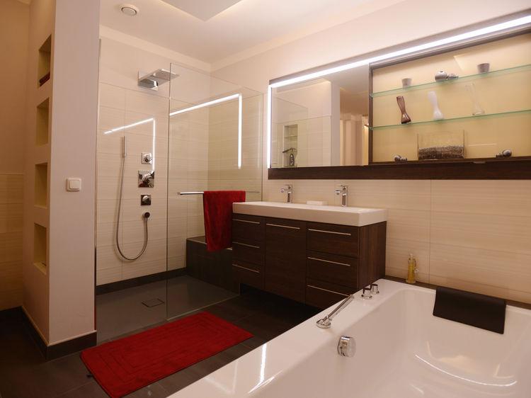 Innenarchitektur Badezimmer Dusche