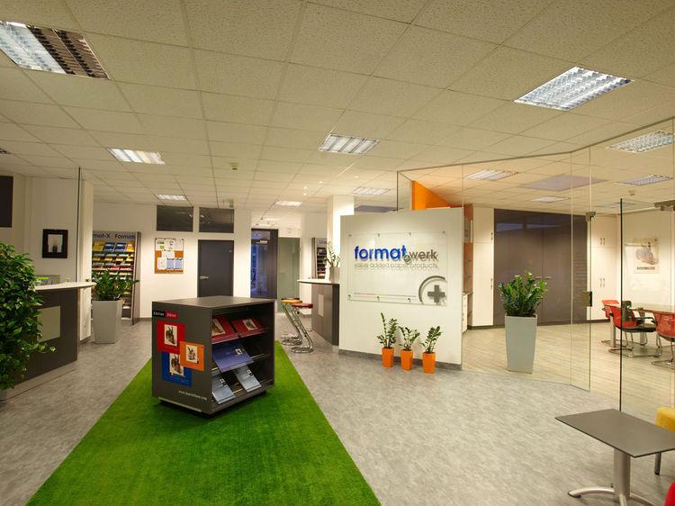 Bürogestaltung im Corporate Design - Empfang