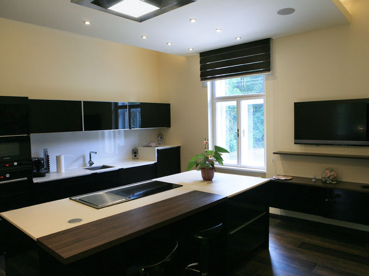 Küche gesamte Innenraumplanung