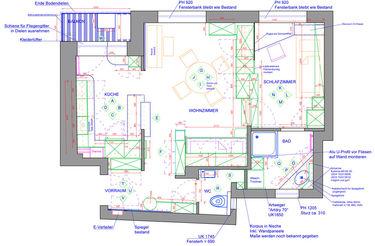 Innenarchitektur technische Plan