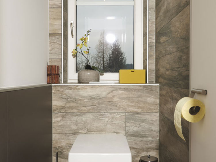 WC Steinfliesen Innenraumplanung