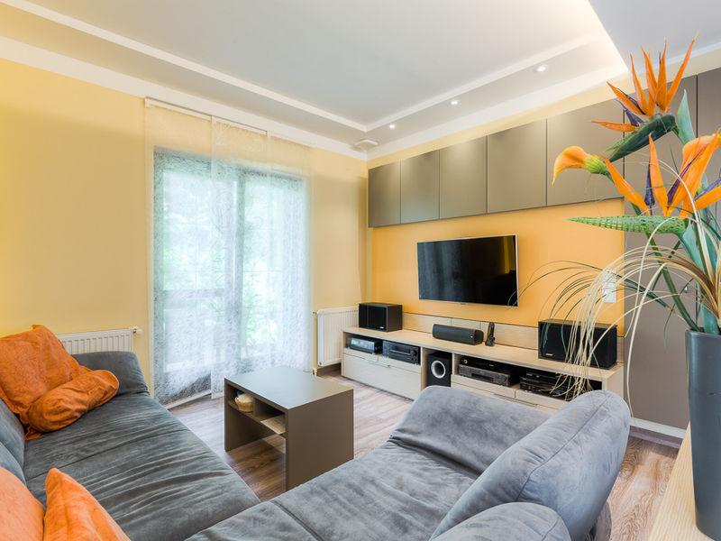 Sanierung Wohnzimmer Wohnwand