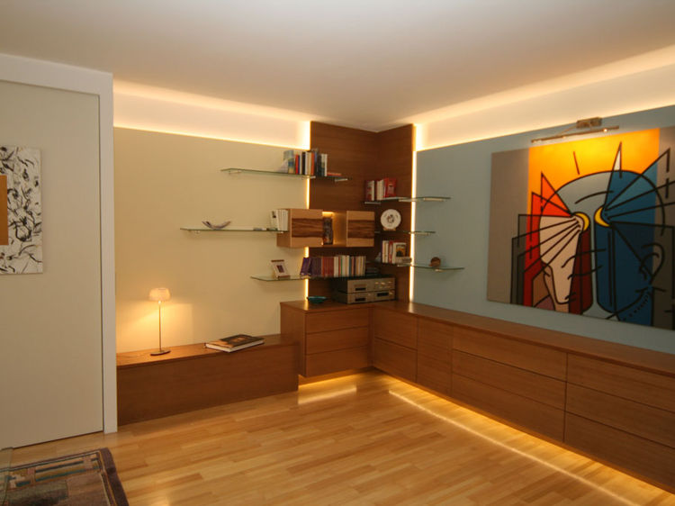 Wohnzimmerwand Innenraumplanung