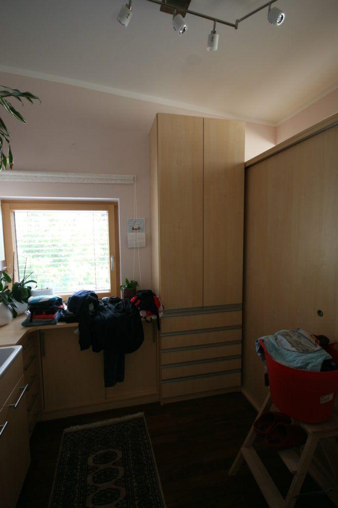 Innenarchitektur Haag Vorher Schrankraum Wäscheraum1 683x1024 - Haus lieber selber bauen oder fertig kaufen?