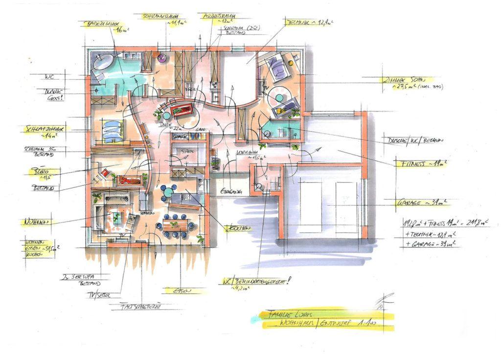 Planung Innenarchitekt Haus Loris11 1024x724 - Gut geplant, Geld gespart!