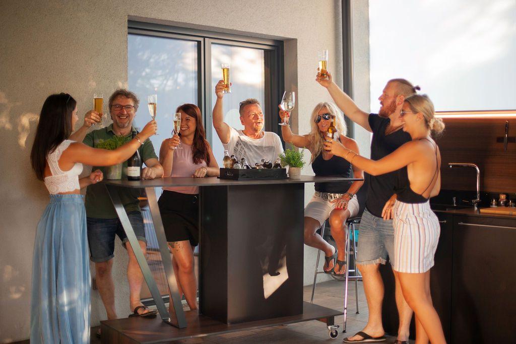 Outdoor kueche9 - Eine Neuheit unter den Outdoorküchen: Die Grillbar