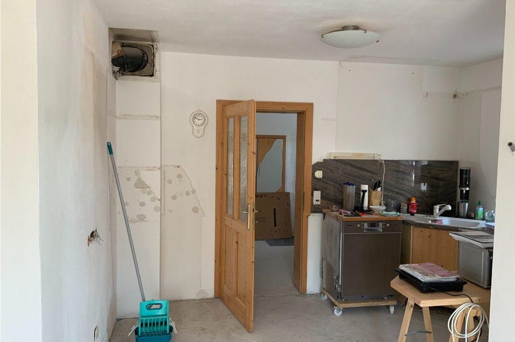 Küchenbereich vor dem Umbau