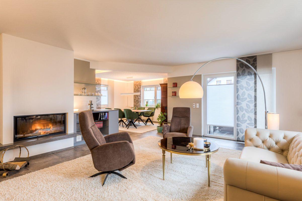 Das Wohnzimmer nach der Modernisierung