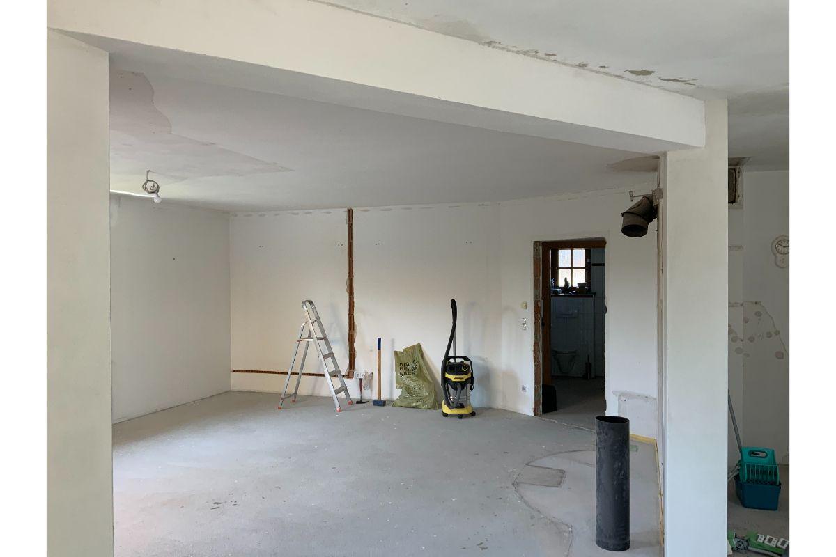Der Wohnbereich vor dem Umbau